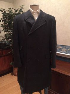 VTG Mens Overcoat Navy Blue by Richman Bros. 1960s 1970s Size 42 44 in Clothing, Shoes & Accessories, Vintage, Men's Vintage Clothing, 1965-76 (Mod, Hippie, Disco), Coats, Jackets, Sweaters | eBay