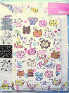 Fillers Q-LiA Kawaii Letter Set Animal Baby