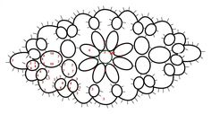 diagram by Jane Eborall with ds count of oval pattern pg 8 Home Beautiful Tatting Book #4