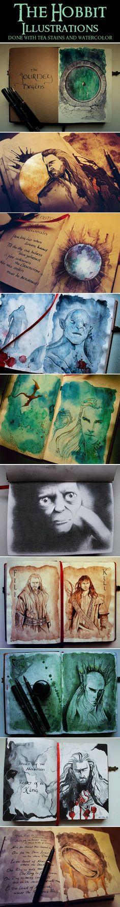 The Hobbit Illustrations… Oh my god.