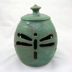 Dragonfly Lantern by Potterybydeb on Etsy, $70.00