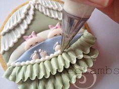 Baby Bassinet Cookie Tutorial   by sweetambs