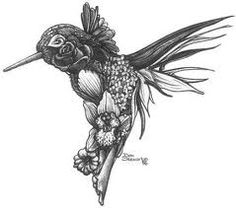 floral hummingbird tattoo, so cleverly designed! - Google Search