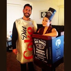 Jack and Diet Coke  sc 1 st  Pinterest & Homemade Jager Bomb costume for a couple! Only $15 for all the ...