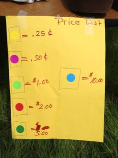 Inspired Whims: Garage Sale Tips & Tricks...love the idea of color coding the items to match the price!!