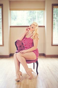 There are a lot of retro style plus sized bathing suits out now #Plus