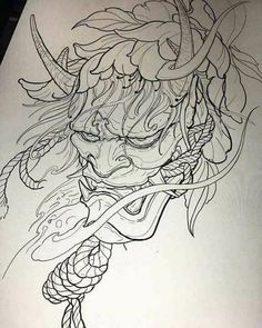 japanese tattoos symbols and meaning Japanese Demon Tattoo, Japanese Tattoo Women, Japanese Tattoo Symbols, Japanese Dragon Tattoos, Japanese Tattoo Designs, Japanese Sleeve Tattoos, Samurai Mask Tattoo, Oni Mask Tattoo, Yakuza Tattoo
