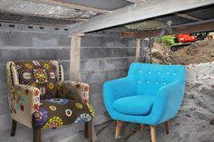 Visjoner for arbeidsrom Wingback Chair, Accent Chairs, Villa, House, Furniture, Home Decor, Upholstered Chairs, Homemade Home Decor, Wing Chairs