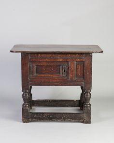 Late Elizabethan hutch table, Marhamchurch antiques
