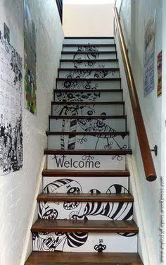 #Escalera dibujanta #Escaleras_decoradas #Decorated_stairs
