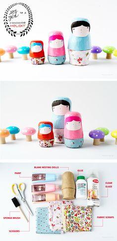 diy nesting dolls!