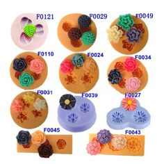 Mini Silicone Fondant DIY Flower Cake Mold For Handmade Chocolate Jelly Cake Decorating Supplies, Baking Supplies, Food Decorating, Baking Tools, Baking Ideas, Craft Supplies, Jelly Soap, Sugar Lace, Accessories