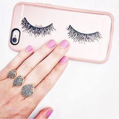 Lashes on a phone case - yes please! Sweet Water Decor design - purchase link! Lovely photo by @amybreckenridge