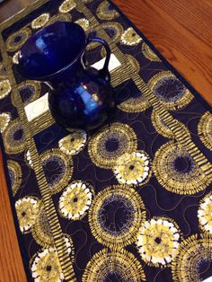 Dear Stella Navy and Gold Fireworks Table by derstinedesigns, $85.00 Just in time for July 4th!