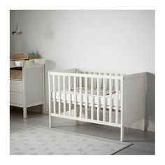 Baby nursery furniture ikea crib sundvik white home decor ikea crib cribs ikea cot bedrooms today Ikea Cot, Baby Nursery Furniture, Nursery Rugs, Nursery Ideas, Bed Base, White Home Decor, Pallet Bedframe, Baby Bedding, Quartos