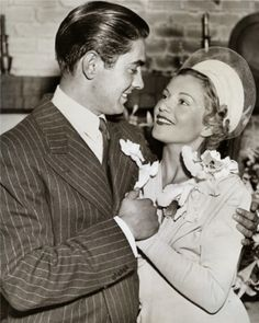 Tyrone Power and his wife Annabella