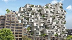 CplusC Architectural Workshop has envisioned a Tetris-like extension to Sydney's demolition-threatened Sirius building, resembling Moshe Safdie's Habitat 67
