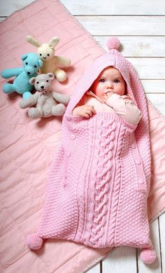 Baby sleeping bag in a pattern mix - free knitting instructions- Baby-Schlafsack im Mustermix – kostenlose Strickanleitung Baby sleeping bag in a pattern mix – free knitting instructions - Baby Knitting Patterns, Baby Patterns, Free Knitting, Free Crochet, Vintage Knitting, Knit Crochet, Crochet Hats, Baby Cocoon, Baby Blog