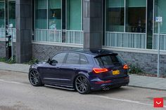 Take a look at the Fascinating Purple Audi Boasts Multiple Custom Add-ons photos and go back to customizing your vehicle with renewed passion. Audi Q3, Audi Cars, Jaguar E Type, Wide Body, Luxury Cars, Dream Cars, Super Cars, Volkswagen, Automobile