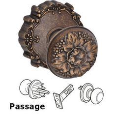Merveilleux Fusion Hardware   Door Knobs   Passage Floral Knob With Floral Rose In  Antique Copper | Door Knobs | Pinterest | Door Knobs, Antique Copper And  Doors