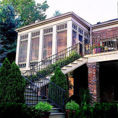 Love the steps going up to this sunroom!  Let the Sun Shine In!  homedeisgnersoftware.com