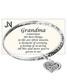 Grandma's Love Prayer Twist Engraved Bangle Bracelet with Heart Charm by Jewelry Nexus -- More info could be found at the image url.