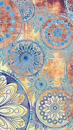 C15 Wallpaper Backgrounds, Iphone Wallpaper, Wallpapers, Design Art, Web Design, Mandala Painting, Grafik Design, Mandala Design, Fractal Art