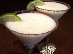 Luscious Key Lime Pie Martini from Food.com:   Got the idea from a restaurant I used to work at, and made a few improvements! It really is decadent, and great for dessert!