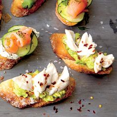 Crostini with Avocado, Crab, and Flake Salt | MyRecipes.com