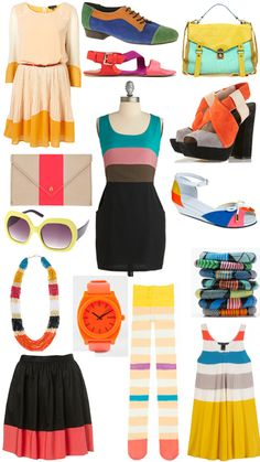 Color blocking! By Diana Moss (of missmoss.co.za) for Lucky Magazine