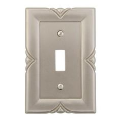 Amerelle Bedford 1 Toggle Wall Plate - Satin Nickel-87TN at The Home Depot