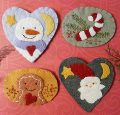 wool applique pins - Bing Images