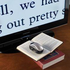 The Wireless Page To TV Magnifier - Hammacher Schlemmer