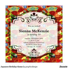 #zazzle Sold this #japanese #asian #invitations to NY.  Thanks for you who purchased this. Check more at www.zazzle.com/graphicdesign/japanese