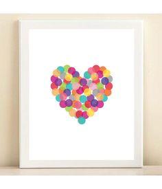 "Print ""Heart with confetti"""