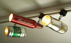 Beer Can Track Lighting by ZAL Creations
