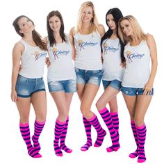 Knee highs with pink and purple stripes. Two very popular colors. Order Now Purple Socks, Yellow Socks, Braided Hairstyles Updo, Updo Hairstyle, Braided Updo, Prom Hairstyles, Updos, Thigh High Socks, Knee Socks