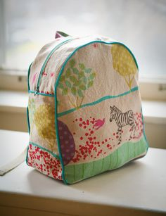 TRUE BIAS: SEWN : MADE BY RAE'S TODDLER BACKPACK. Perfect!!! Wish I could order this one!