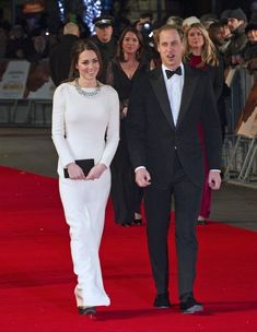 Kate Middleton - Kate Middleton and Prince William on the Red Carpet