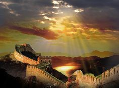 Chinese Wall, China. One of the seven wonders of the world.