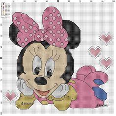 Minnie mouse punto de cruz disney, minnie punto de cruz, punto de cruz co. Cross Stitch Baby, Cross Stitch Charts, Cross Stitch Designs, Cross Stitch Patterns, Disney Stitch, Cross Stitching, Cross Stitch Embroidery, Minnie Mouse, Stitch Character