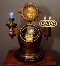 Cool Steampunk Lamp with skull.