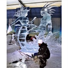 Winterlude 2013 - International Ice Carving Competition, Ottawa.