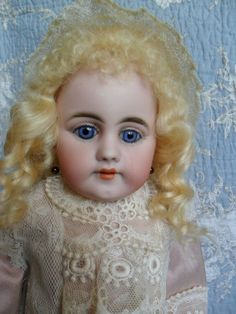 Awesome Early Simon & Halbig bisque doll, a real beauty, 1880 Antique Lace, Antique Dolls, Bisque Doll, Real Beauty, Pink Silk, Antiques, Awesome, Beautiful, Ebay