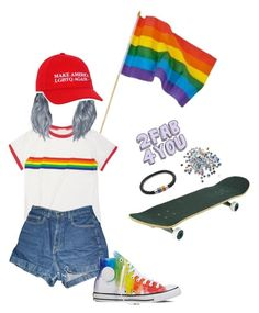 """""""❤️"""" by xllix on Polyvore featuring American Apparel, Converse, Bling Jewelry, modern and vintage"""