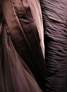 Charles James - Couturier - Robe de Soirée 'Papillon' - Soie - Tons Chocolat - 1955