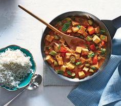 Tofu and Vegetable Curry With Rice | In celebration of National Vegetarian Month, which begins October 1, we've compiled an entire month of dinners, so you won't even have to think about what's on the menu.