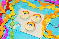 Rainbows and Gold Party. Chocolate covered oreos