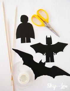 lego batman silhouette puppet supplies free LEGO Batman Printable