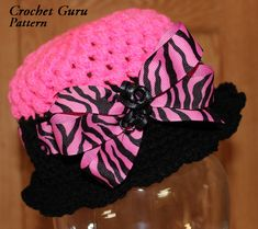 Crochet Hat Pattern - Cloche Hat - 5 Sizes - Baby to Adult - PDF Format